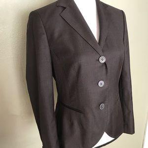 Boss Hugo Boss NWOT Brown Fitted Blazer Jacket 8